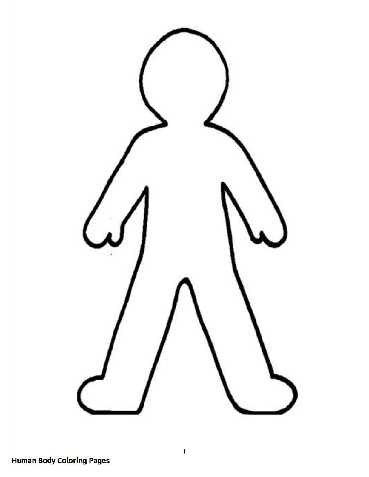 Free Body Coloring Pages For Kids Image In 2021 Person Outline Body Outline Human Body Worksheets