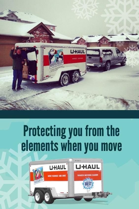 When Moving Or Towing Items In Winter Use An Enclosed Or Cargo Trailer To Protect Your Items From The Wea Moving Trailer Rental Cargo Trailers Moving Trailers
