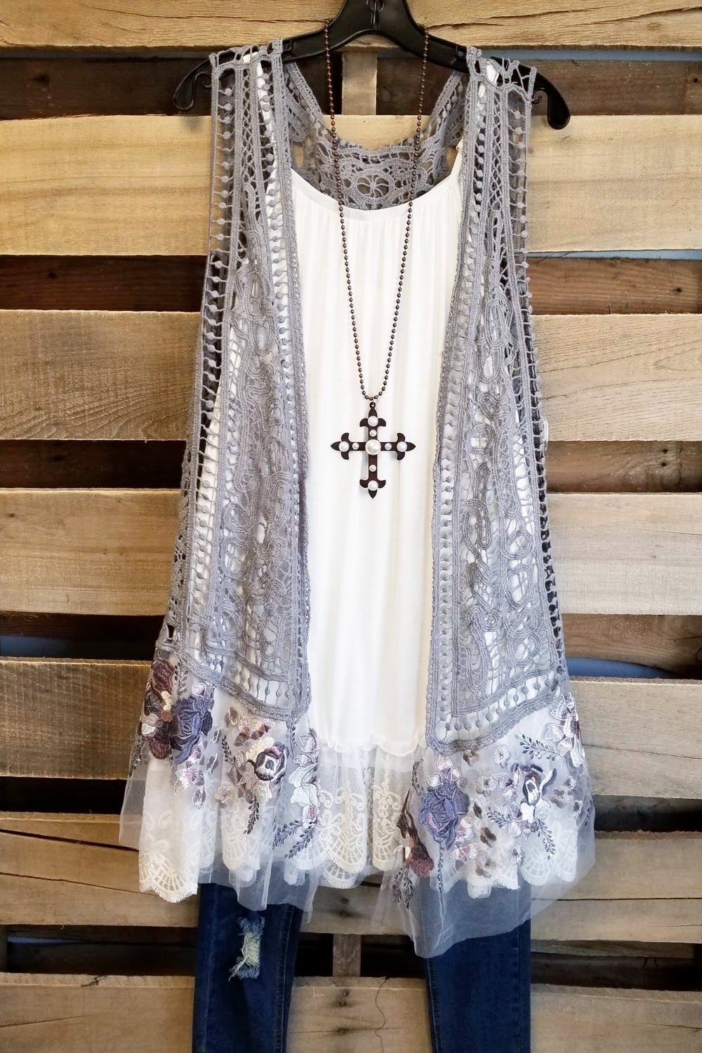 Ahb Exclusive Magical Feeling Vest Grey Boho Kleidung - Mode Selber Machen