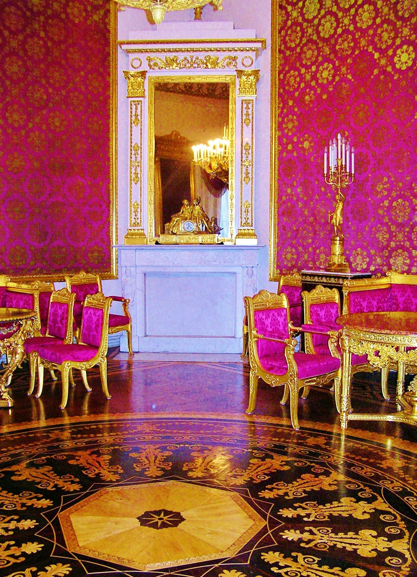 Bright pink walls From Russia with Love