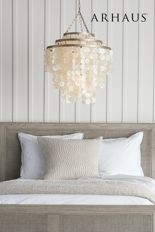 Capiz Shell Chandelier Arhaus Lighting Collection Master Bedroom Chandelier Ideas Master Bedroom Chandelier Master Bedrooms Decor
