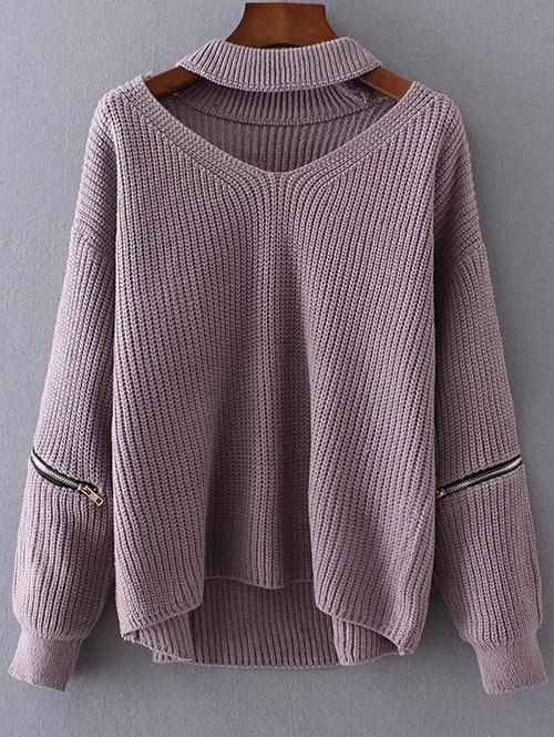 cc63b20a74 Cut Out Chunky Choker Sweater