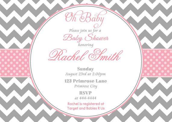 Baby Shower Invitation Girl Printable by CuddleBugInvitations