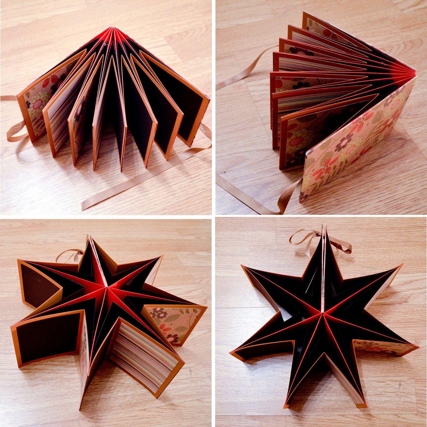 Star Book Mini Scrapbook Album Unique & Personalised ...