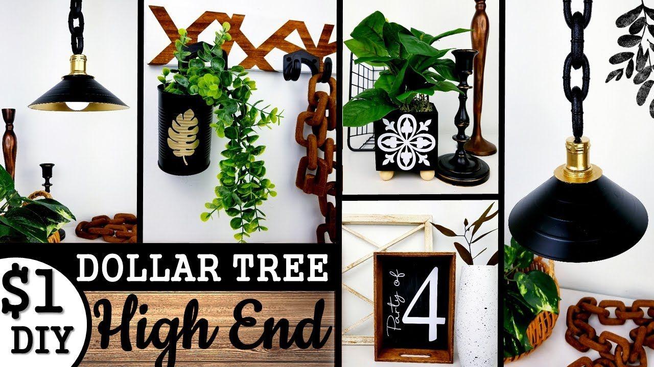 1 HIGH END DOLLAR TREE DIY's 2020 INDUSTRIAL HOME DECOR