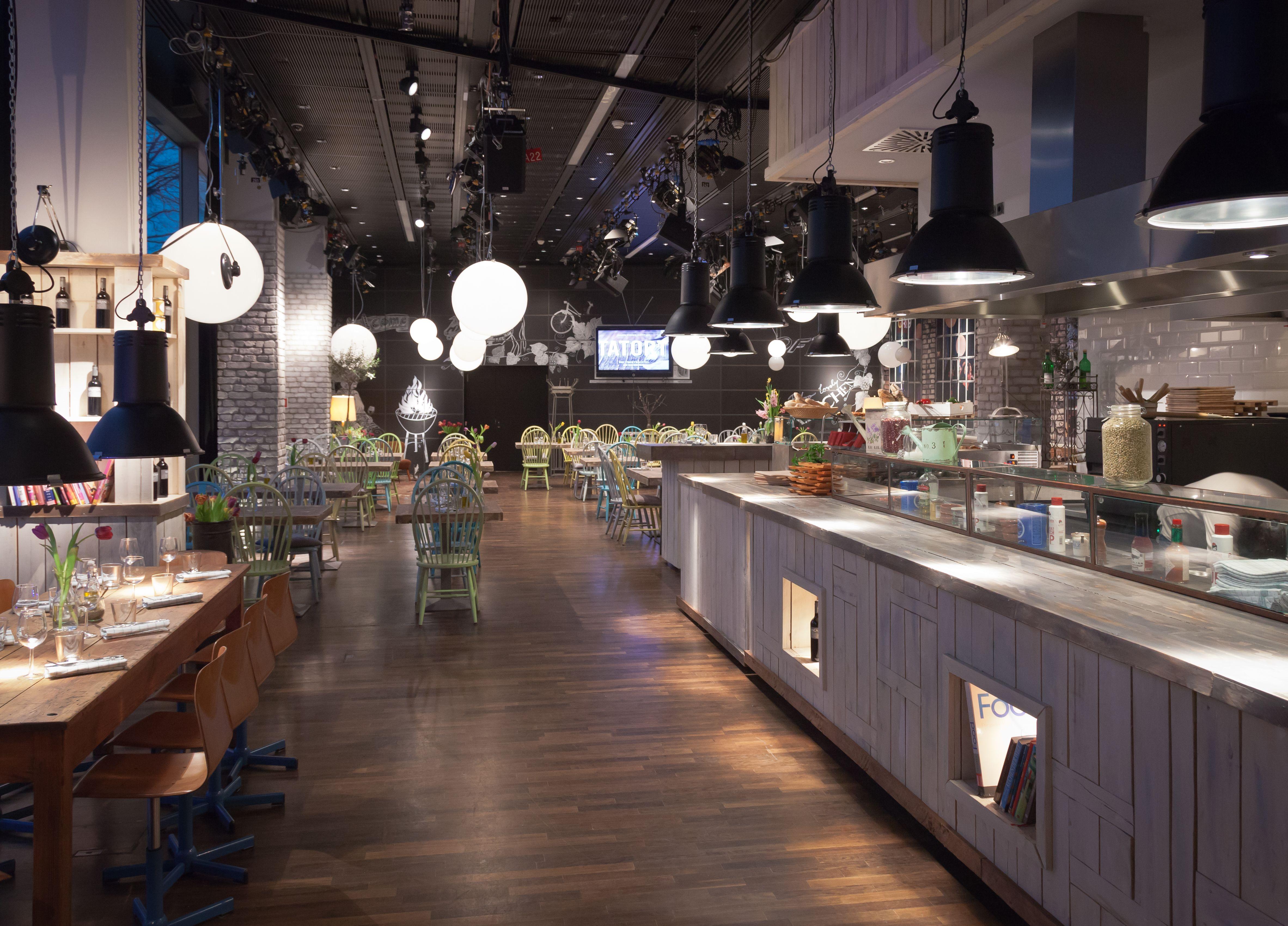 Das Schöne Vintage Restaurant Im Weserhaus Von Radio Bremen Ist Der