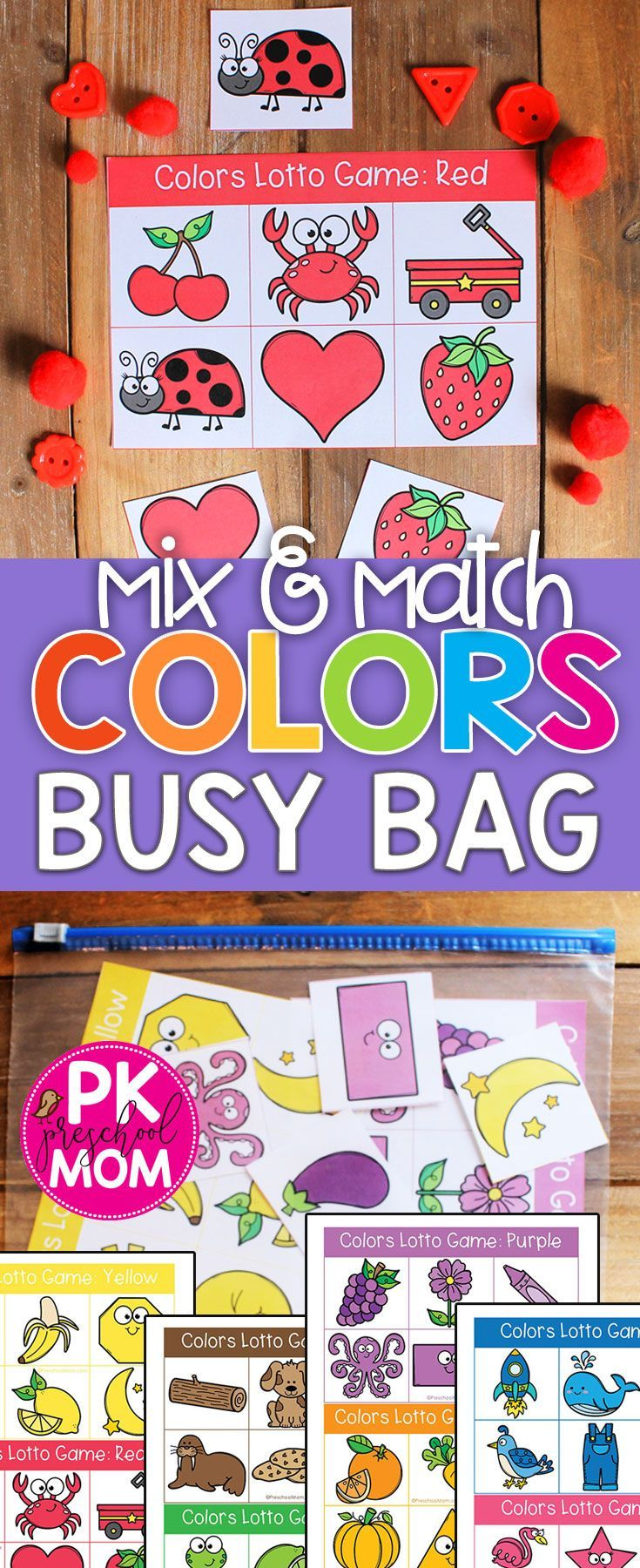 Free Color Match Sorting Game in 2020 Preschool color