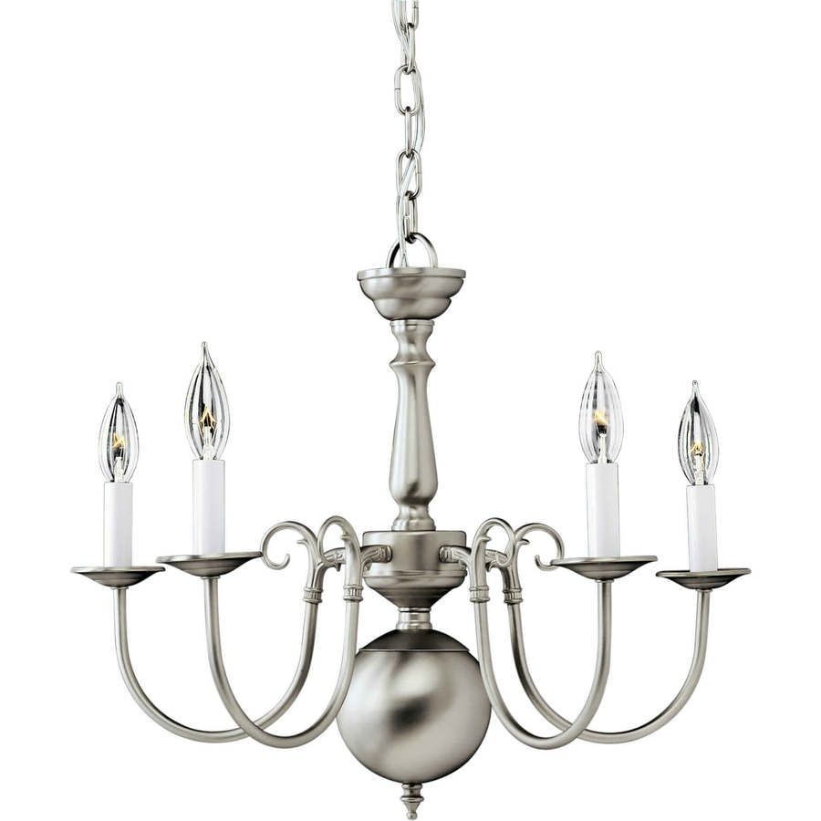 Shandy in light brushed nickel candle chandelier lw