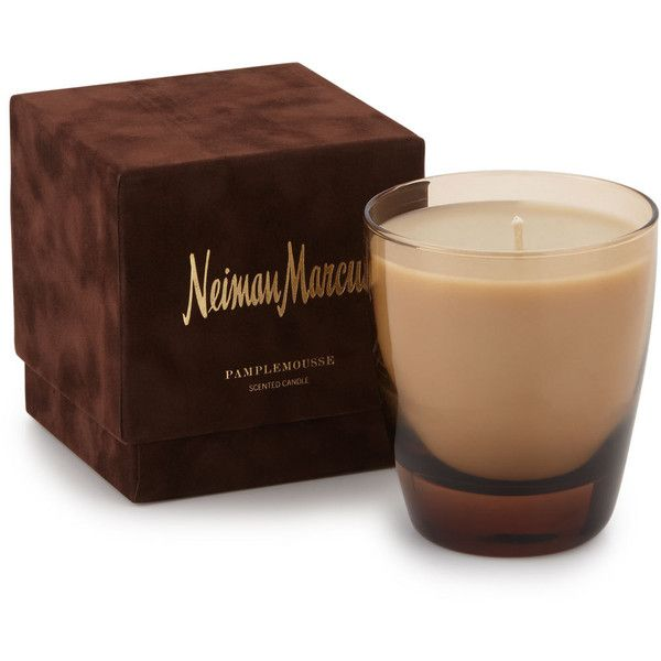 Neiman Marcus Pampelmousse Boxed Candle (150 RON) ❤ liked on Polyvore featuring home, home decor, candles & candleholders, scented candles, fragrance candles, scented wax candles, wick candles and wax candles