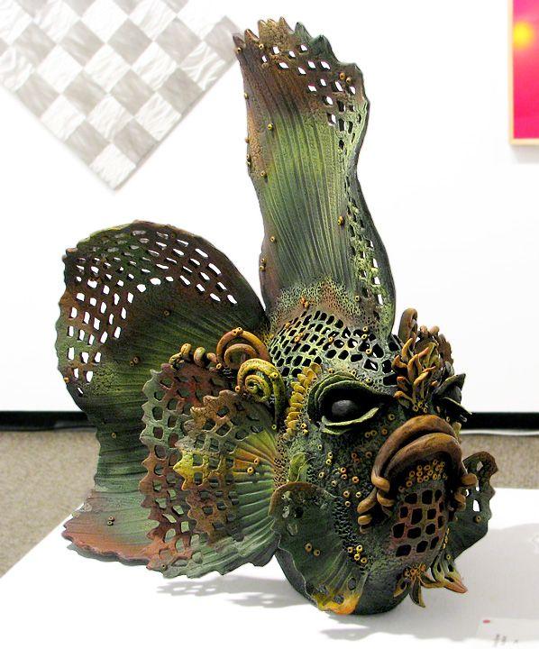 Debra brown fish must make lots of fish for mo river for Ceramic fish sculpture