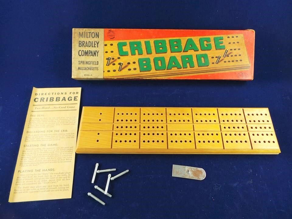 Vintage Milton Bradley Company Cribbage Board 4626a Milton Bradley Cribbage Board Family Game Night