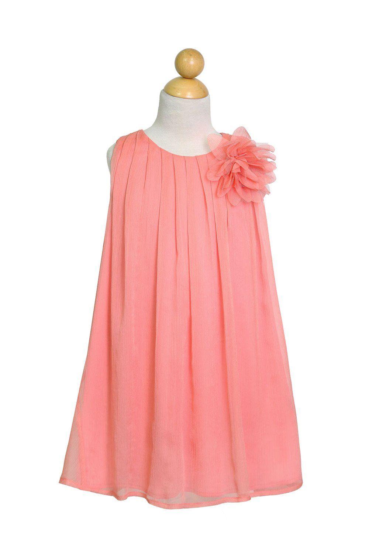 244d8e5400a Silver Chiffon Ruched Neckline Flower Girl Dress