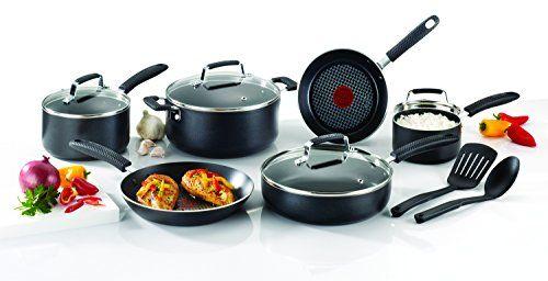 Tfal E821sc Expert Grip Titanium Nonstick Interior Cookware Set