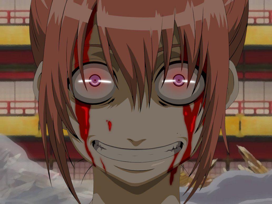 Gintama Kagura Yato Clan Anime Anime Expressions Creepy Faces