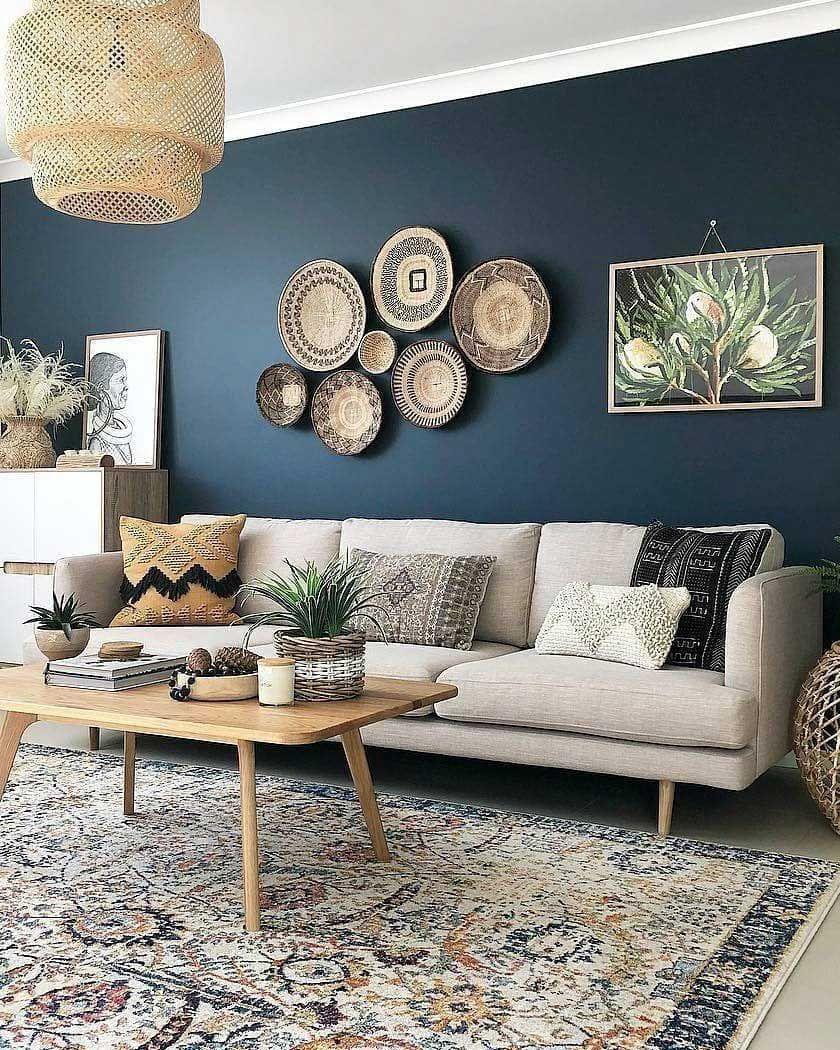 36 Best Living Room Wall Decor Ideas 01 Accent Walls In Living Room Blue Living Room Beige Living Rooms