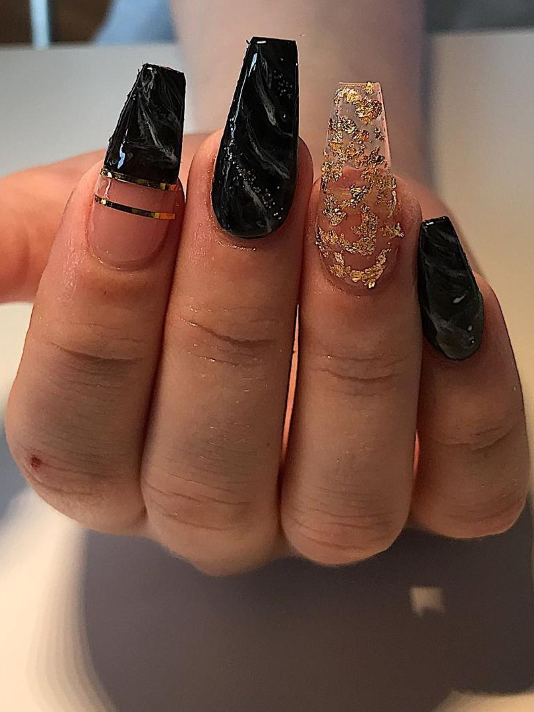 The Most Beautiful Black Winter Nails Ideas | Stylish Belles