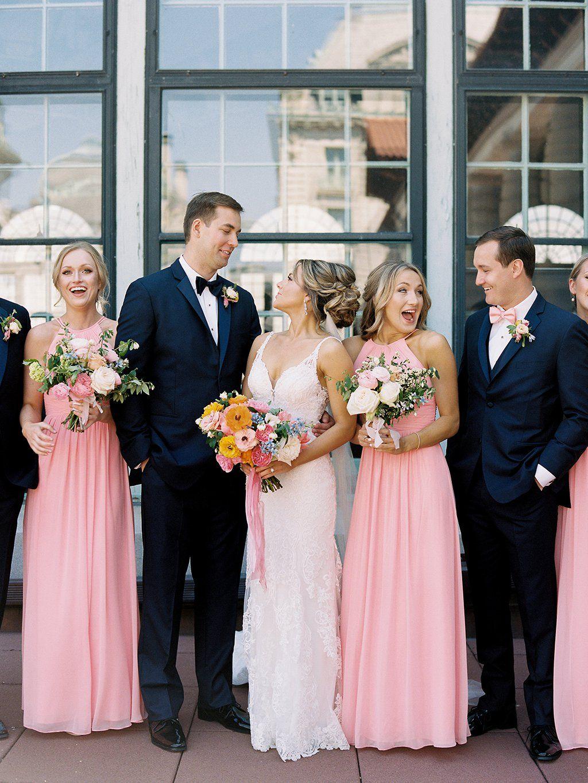 94e79943465 Bubblegum Pink Bridesmaids Dresses Added a Winning Burst of Color to ...