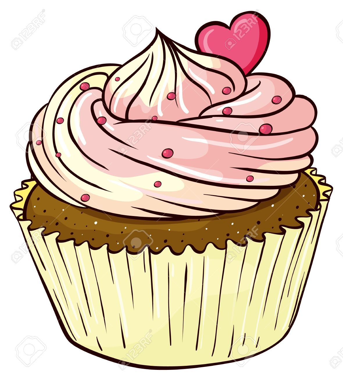 cupcake clipart stock photos images royalty free cupcake clipart  [ 1180 x 1300 Pixel ]