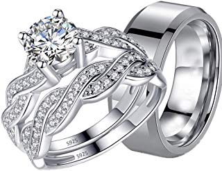Amazon Com Engagement Rings For Couples Bridal Sets Wedding Engagement Clothing Shoes Jewelry Engagement Rings Couple Engagement Rings Jewelry