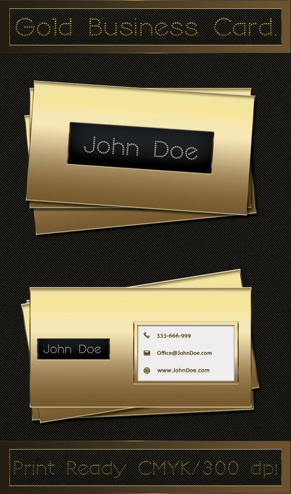Print ready luxury gold business card template, available for free ...