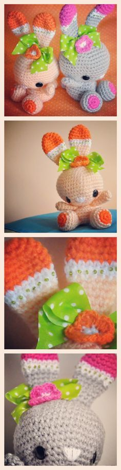 Chica Outlet - Conejitas gemelas - free pattern ✿Teresa Restegui http://www.pinterest.com/teretegui/✿