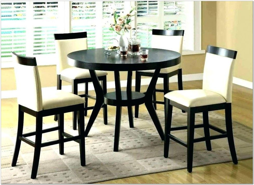 9pcs Contemporary Black Counter Height Dining Table 8 Stools Set