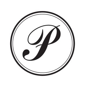 P MONOGRAM ROUND STAMP — Pretty in Ink Stamps