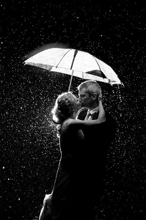 just a' kissing in the rain