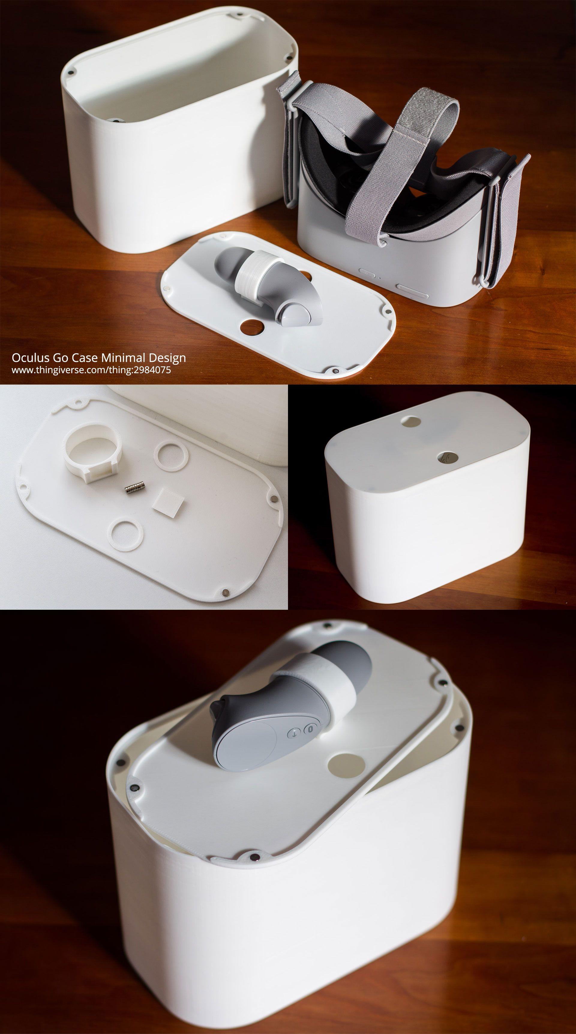 Oculus Go Case Minimal Design A 3D printed travel case for the