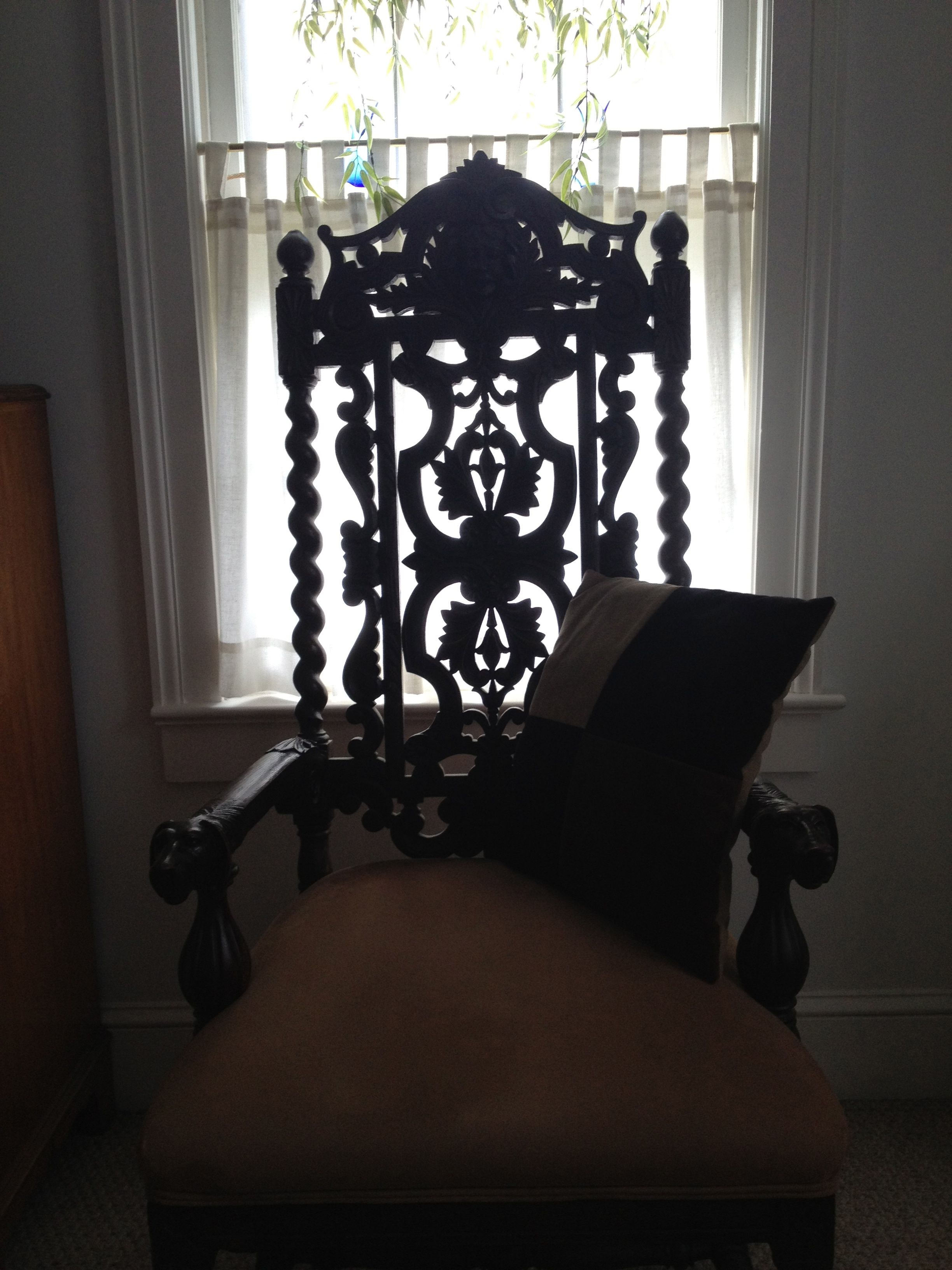 another detailed English hand carved chair~House of History, LLC.