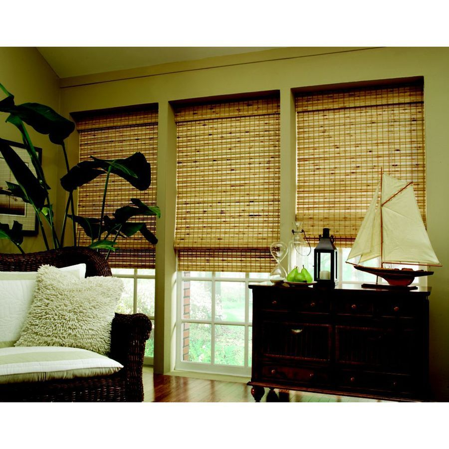 Shop Custom Size Now By Levolor 72 In W X 60 In L Natural Bamboo Light Filtering Bamboo Natural Roman Shade At Lowe Bamboo Light Natural Roman Shade Woven Wood