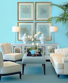 Casa azul turquesa