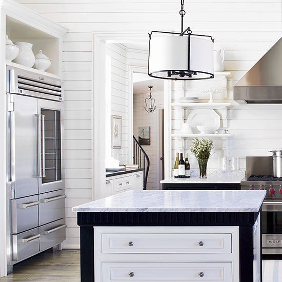 Refrigerator | Food & Wine-shelves over fridge open? extra space with 9'
