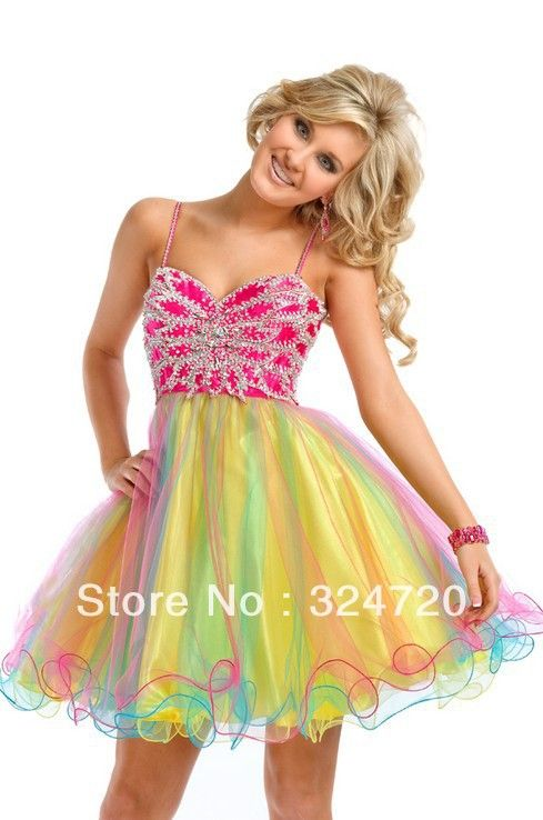 colorful prom dresses | High low split Prom Dresses pageant dress ...