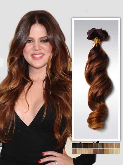 20 Two Tone Ombre Indian Remy Hair Clip In Hair Extension Usw180