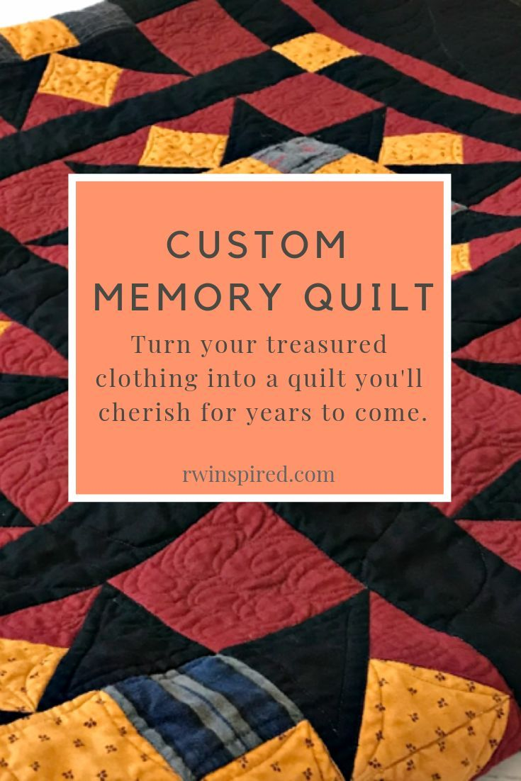 Memory Quilt Deposit is part of Memory quilt, Memories, Quilts, Machine quilting designs, Custom quilts, Easy quilts - Whether it's to memorialize a loved one that has passed away or commemorate a season in a child's life, I'd love the opportunity to create a memory quilt you'll cherish for years to come