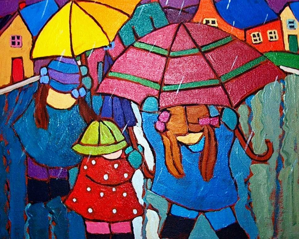 Ready for Rain, original acrylic painting by Terry Ananny www.terryananny.com