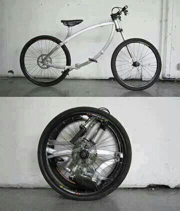 A folding bicycle. Badass!