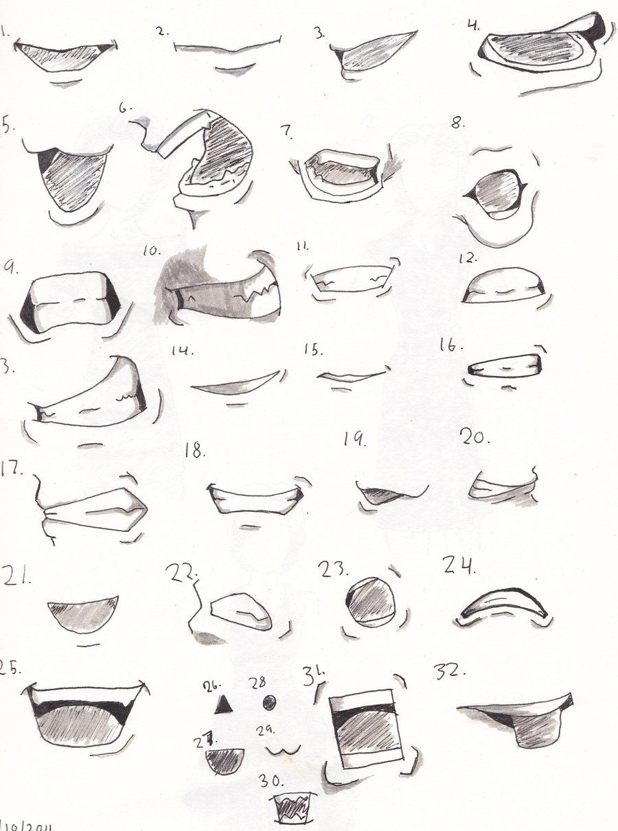 Soul Eater Mouth Study by InkWovenHeart Anime mouth