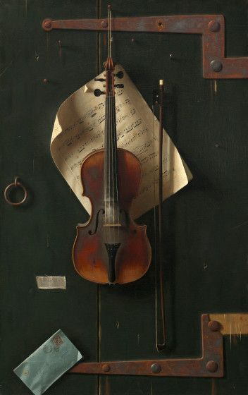 William Michael Harnett, The Old Violin, 1886, oil on canvas, National Gallery of Art, Washington,