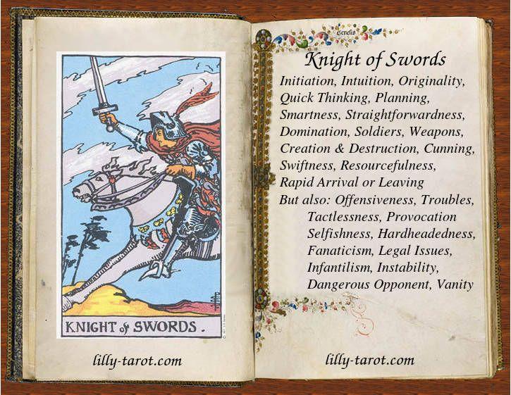 Knight of Swords: Intuition, Originality, Swiftness | Tarot