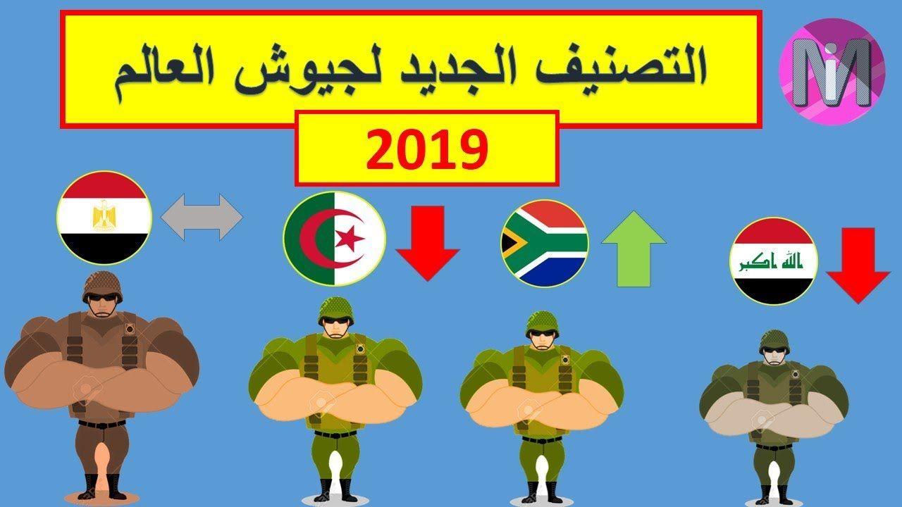 التصنيف الجديد لجيووش العاالم لسنة 2019 تقدم اغلب الدول العربية مفاجئة New Technology Technology