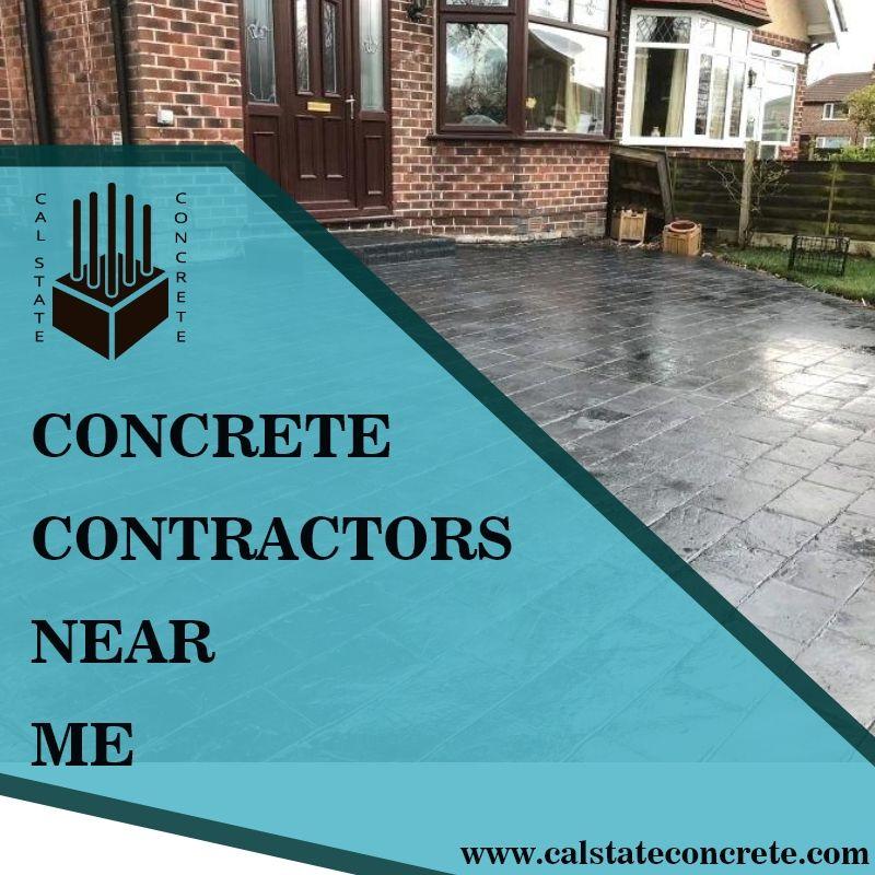 A Concrete Driveway Of Concrete Contractors Near Me No Longer Needs To Consist Of A Plain Smooth Block C Sustainable Building Materials Concrete Patio Concrete