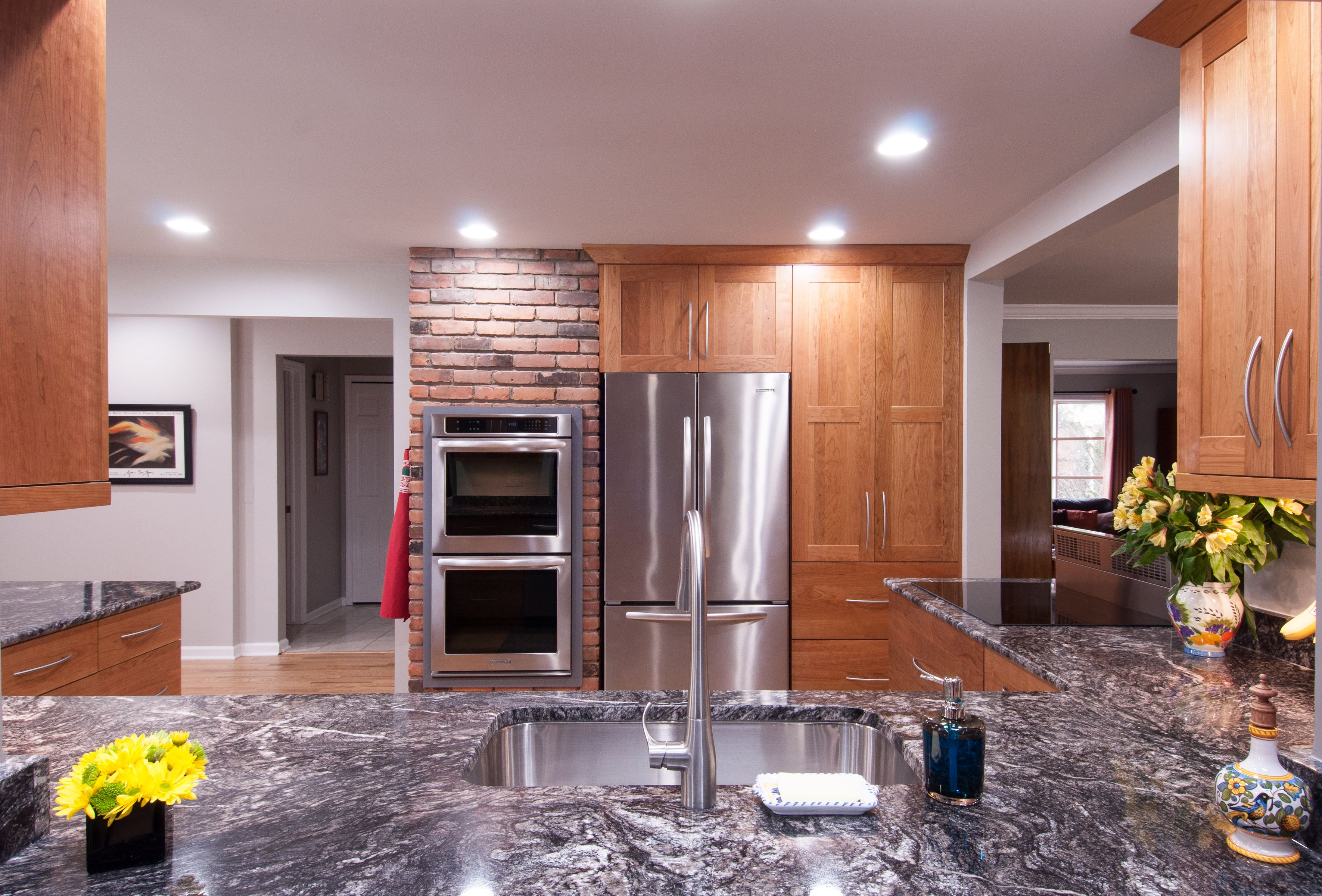 A Stunning Kitchen Redesign With Custom Lafata Cabinets Custom Cabinets Kitchen Redesign Kitchen And Bath