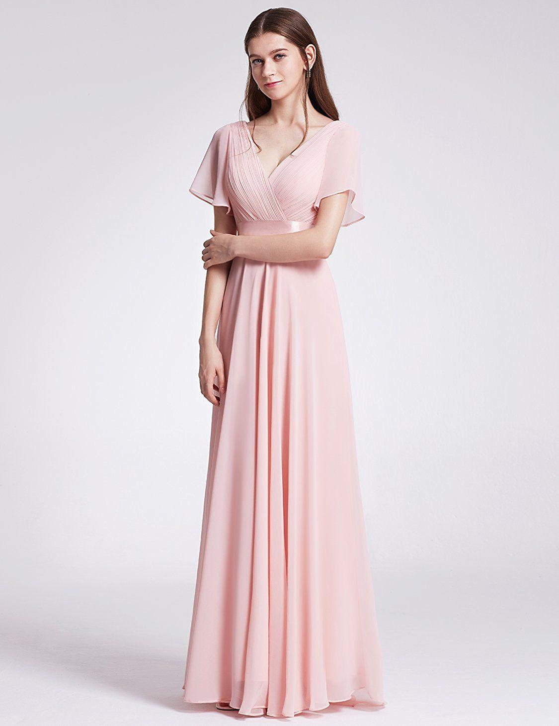 5541fffff78ad Ever Pretty Women's Short Sleeve V-Neck Long Evening Dress 09890 ...