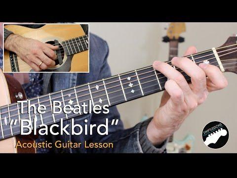 How To Play Blackbird On Guitar Lesson Chords Paul Mccartney Beatles