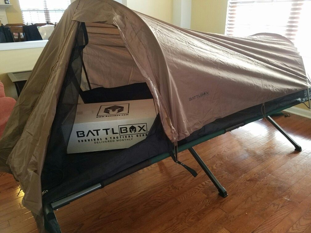 You can use the one man tent from with the Alaskan Guide c& cot. & You can use the #battlbox one man tent from #mission13 with the ...