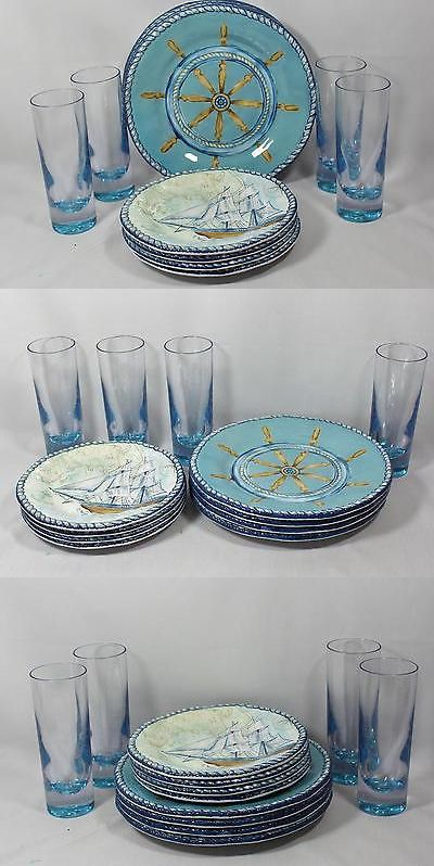 Other Dinnerware 175802: Nautical 12 Pc.Captain S Boat Wheel And ...