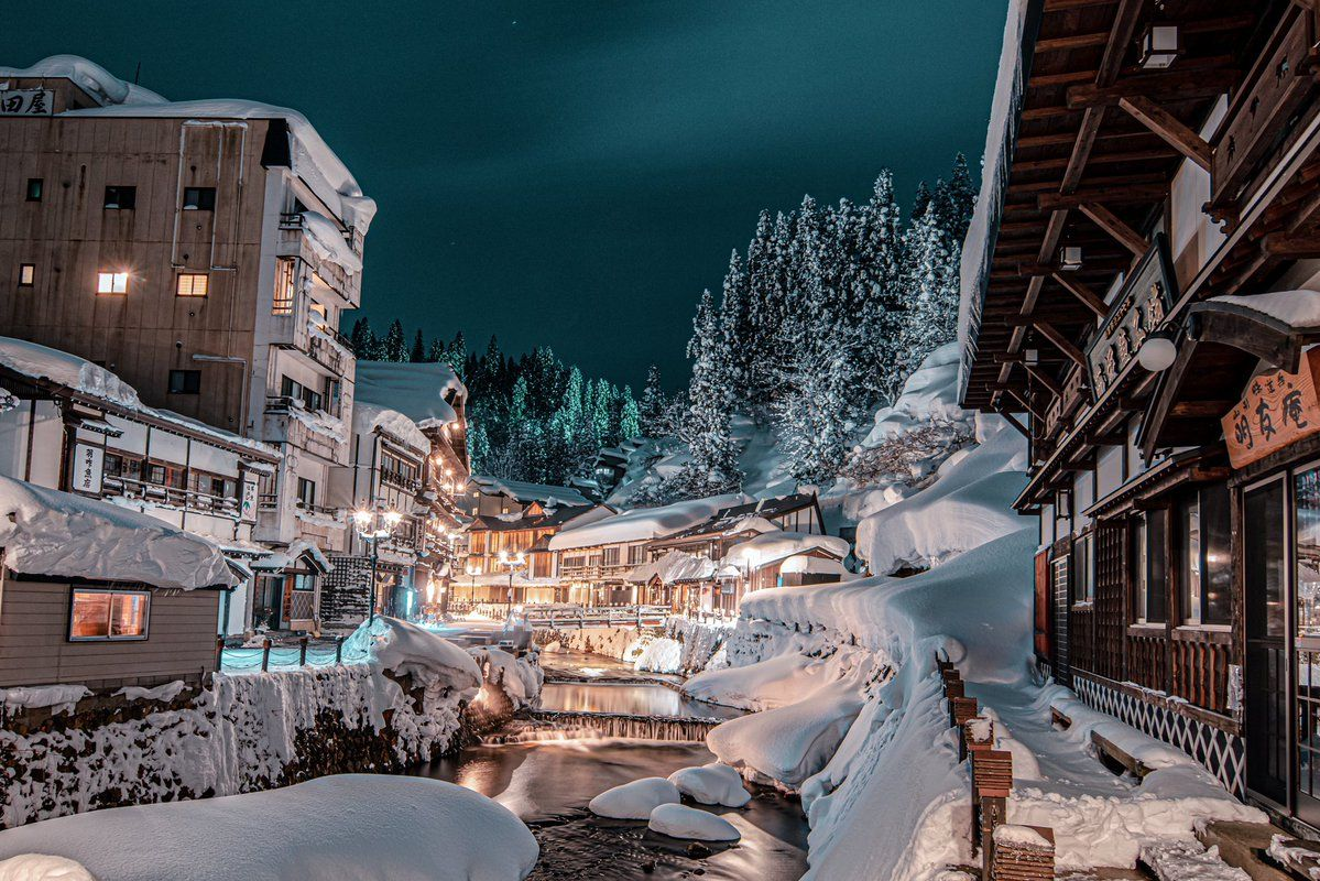 山形県の銀山温泉の写真が予想以上に千と千尋の神隠しの舞台だと話題に 2020 銀山温泉 神隠し 写真