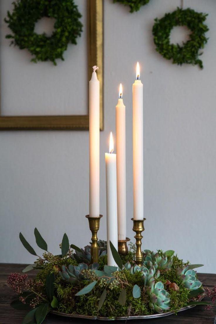 adventsljusstake diy advent weihnachtsschmuck mit kerzen. Black Bedroom Furniture Sets. Home Design Ideas